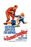 THE FARMER'S DAUGHTER  US poster  Joseph Cotten  Loretta Young  1947