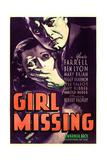 GIRL MISSING  US poster  from left: Peggy Shannon  Ben Lyon  1933