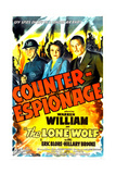COUNTER-ESPIONAGE  US poster  Forrest Tucker  Hillary Brooke  Warren William  1942