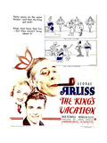THE KING'S VACATION  from top right: George Arliss  Patrica Ellis  Dick Powell on window card  1933