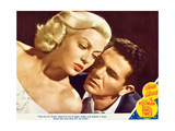 THE POSTMAN ALWAYS RINGS TWICE  l-r: Lana Turner  John Garfield on lobbycard  1945