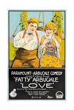 LOVE  l-r: Roscoe 'Fatty' Arbuckle  Winifred Westover on poster art  1919