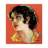 Pola Negri  artwork from the cover of Motion Picture magazine  ca  mid-1920s
