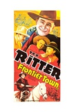 FRONTIER TOWN  Tex Ritter  Ed Cassidy  Charles King  1938