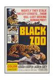 BLACK ZOO  poster art  1963
