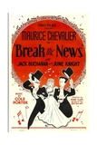 BREAK THE NEWS  from left: Maurice Chevalier  June Knight  Jack Buchanan  1938