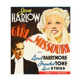 GIRL FROM MISSOURI  from left: Franchot Tone  Jean Harlow on window card  1934