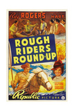 ROUGH RIDERS ROUND-UP  Roy Rogers  Trigger  Lynne Roberts [aka Mary Hart]  1939