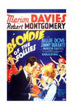 BLONDIE OF THE FOLLIES  from left on US poster art: Robert Montgomery  Marion Davies  1932