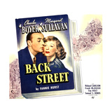 BACK STREET  from left: Charles Boyer  Margaret Sullavan on jumbo window card  1941