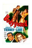 BODYGUARD  US poster  Lawrence Tierney  Priscilla Lane  1948