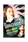 SHE'S DANGEROUS!  US poster art  from top: Tala Birell  Walter Pidgeon  Cesar Romero  1937