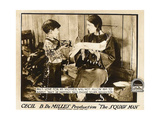 THE SQUAW MAN  l-r: Pat Moore  Ann Little on lobbycard  1918