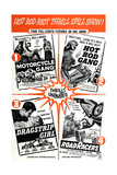 Multiple poster for HOT ROD GANG (1958)  MOTORCYCLE GANG (1957)