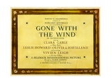 GONE WITH THE WIND  poster art  1939