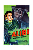 ALIBI  US poster  from left: Margaret Lockwood  Hugh Sinclair  1942