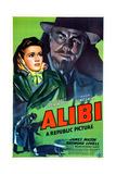 ALIBI  US poster  from left: Margaret Lockwood  Hugh Sinclair  1942