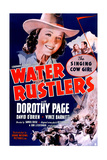 WATER RUSTLERS  US poster  center: Dorothy Page  second from right: Dave O'Brien  1939
