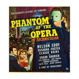 PHANTOM OF THE OPERA  l-r: Nelson Eddy  Susanna Foster  Claude Rains on window card  1943