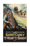 THE HEART OF A BANDIT  left: Harry Carey on poster art  1915