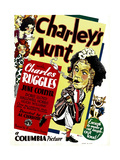 CHARLEY'S AUNT  left: Charles Ruggles on window card  1930