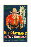 THE TWO GUN MAN  Ken Maynard with Tarzan the horse on poster art  1931