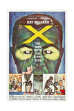 THE MAN WITH THE X-RAY EYES  (aka X-THE MAN WITH THE X-RAY EYES)  poster art  1963