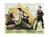 THE BLACK PIRATE  l-r: Billie Dove  Douglas Fairbanks on lobbycard  1926