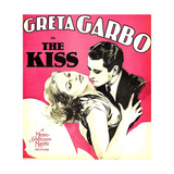 THE KISS  from left: Greta Garbo  Lew Ayres on window card  1929