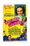 ONE HUNDRED MEN AND A GIRL  Deanna Durbin  Alice Brady  Mischa Auer  Adolphe Menjou  1937