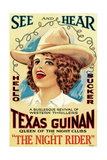 THE NIGHT RIDER  Texas Guinan  1920  poster for late 1920s re-release