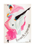 FRENCH CANCAN  (aka ONLY THE FRENCH CAN)  Italian poster art  1955