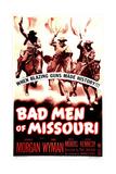 BAD MEN OF MISSOURI  US poster  Arthur Kennedy  Dennis Morgan  Wayne Morris  1941