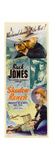 SHADOW RANCH  top: Buck Jones  bottom right inset: Marguerite De La Notte on insert poster  1930