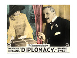 DIPLOMACY  left: Blanche Sweet on lobbycard  1926