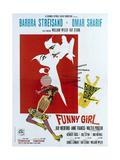 Funny Girl  Italian poster  Barbra Streisand  Omar Sharif  1968