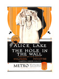 HOLE IN THE WALL  US poster art  Alice Lake  1921