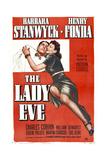 THE LADY EVE  poster  from left: Henry Fonda  Barbara Stanwyck  1941
