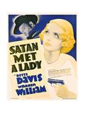 SATAN MET A LADY  US poster art  from left: Warren William  Bette Davis  1936
