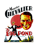 THE BIG POND  Maurice Chevalier on window card  1930