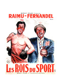 LES ROIS DU SPORT  French poster art  from left: Fernandel  Raimu  1937