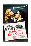 MADE FOR EACH OTHER  US poster art  from left: Carole Lombard  James Stewart  1939