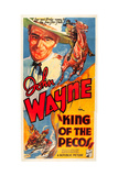 KING OF THE PECOS  John Wayne on poster art  1936