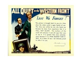 ALL QUIET ON THE WESTERN FRONT  bottom: Lew Ayres  1930