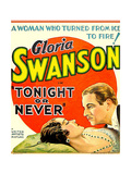TONIGHT OR NEVER  from left on US poster art: Gloria Swanson  Melvyn Douglas  1931
