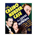 THE CASINO MURDER CASE  US poster art  bottom from left: Paul Lukas  Rosalind Russell  1935
