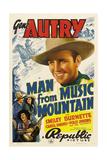 MAN FROM MUSIC MOUNTAIN  Gene Autry  Smiley Burnette  Carol Hughes  1938