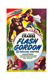 FLASH GORDON  top and bottom: Buster Crabbe on poster art  1936
