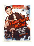 PARACHUTE NURSE  Marguerite Chapman on window card  1942