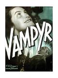 VAMPYR  from top on German poster art: Sybille Schmitz  Maurice Schutz  1932